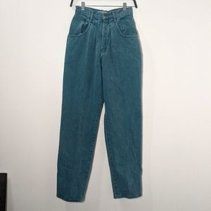 Vintage High Waisted Turquoise Jeans